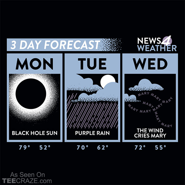 3 Day Forecast T-Shirt