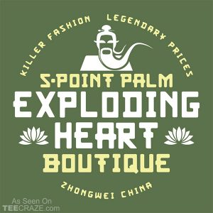 5 Point Palm Exploding Heart Boutique T-Shirt