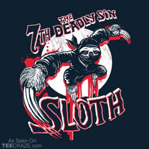 7th Deadliest Sin Ninja Sloth T-Shirt