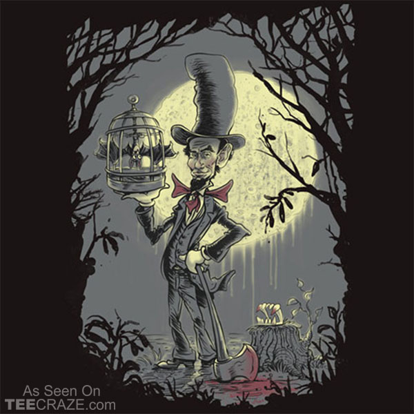 Abe In A Hat With A Vampire Bat T-Shirt