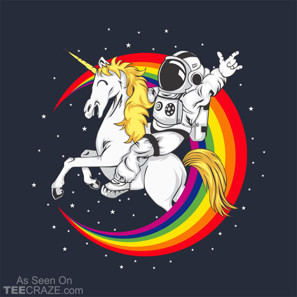 Astronaut Driving Unicorn T-Shirt