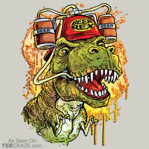 Beer Rex The Beer Loving T-Rex T-Shirt