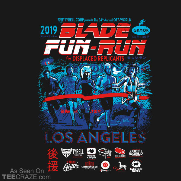 Blade Fun-Run For Displaced Replicants T-Shirt