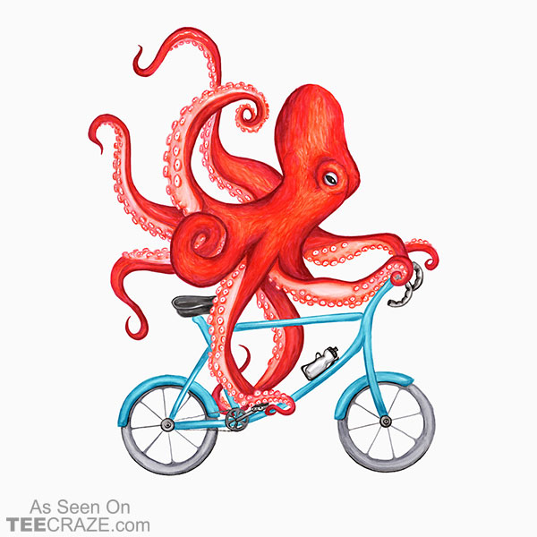 Cycling Octopus T-Shirt