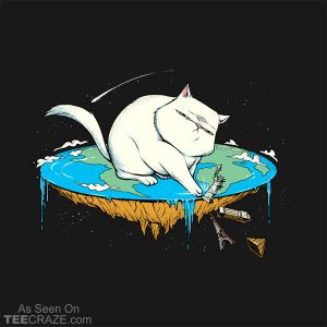 Flat Earth Cat T-Shirt