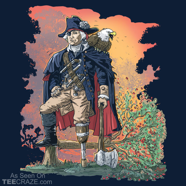 George Washington Founding Pirate Father Redux T-Shirt