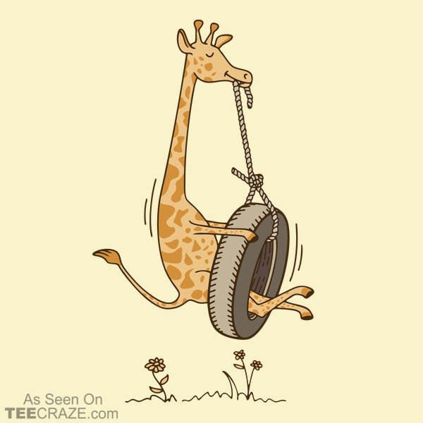 Giraffe On A Swing T-Shirt