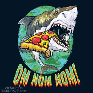 Great White Shark Pizza T-Shirt