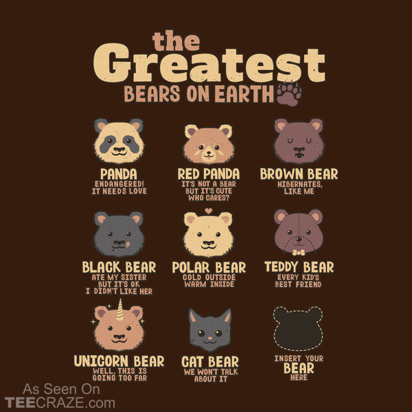 Greatest Bears Insert Your Bear T-Shirt