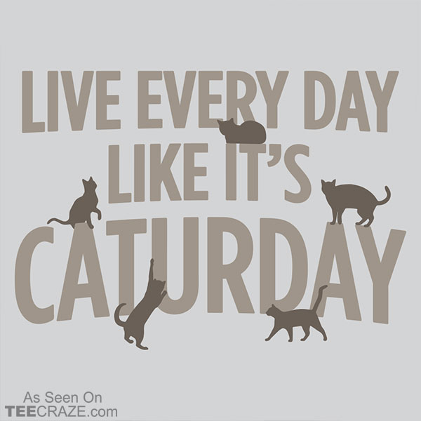 Live Every Day Like It's Caturday T-Shirt