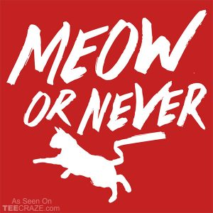 Meow Or Never T-Shirt