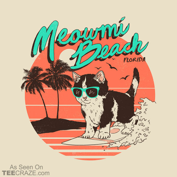 Meowmi Beach T-Shirt