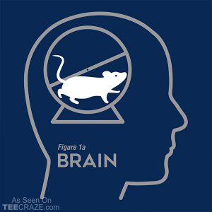 Mouse Wheel Brain T-Shirt