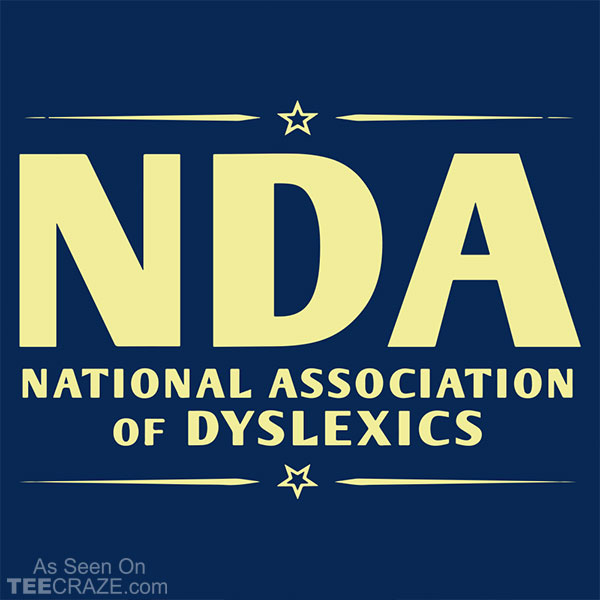 National Association Of Dyslexics T-Shirt