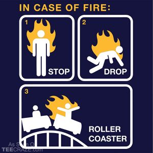 Stop Drop Roller Coaster T-Shirt