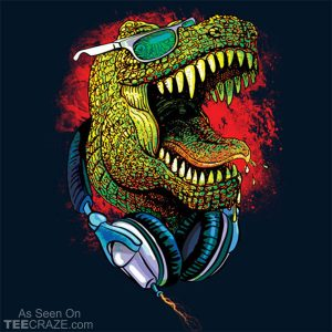 T. Rex Rocks Out T-Shirt
