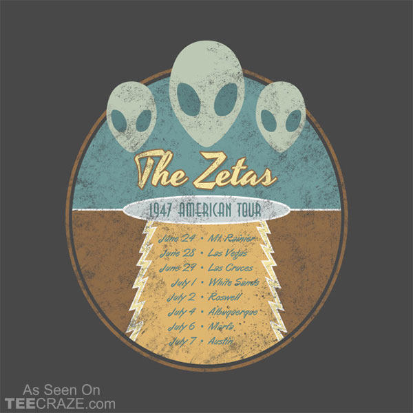 The Zetas 1947 US Tour T-Shirt