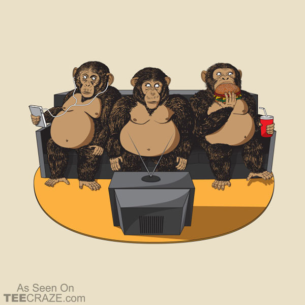 Three Modern Monkeys T-Shirt