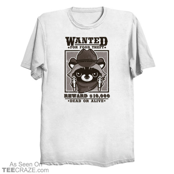 Wanted Racoon T-Shirt