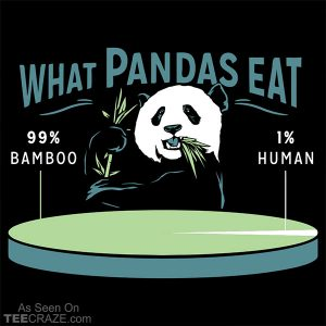 What Pandas Eat T-Shirt