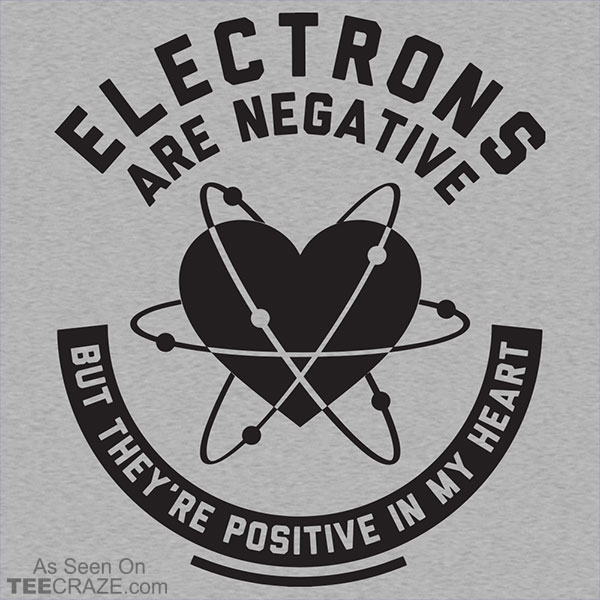 Electrons Are Negative T-Shirt