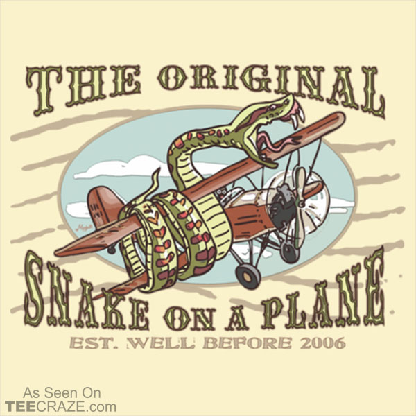 Original Snakes On A BiPlane T-Shirt