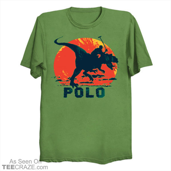 Prehistoric Dinosaur Polo Player T-Shirt