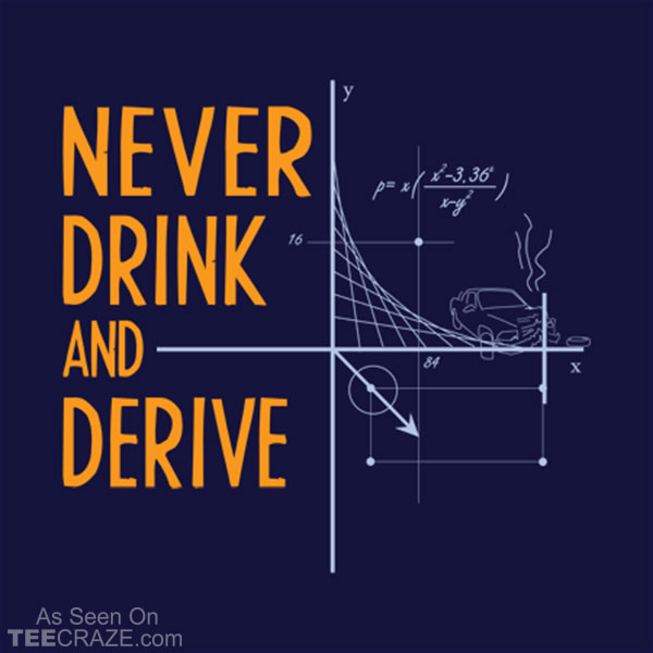 Never Drink And Derive T-Shirt