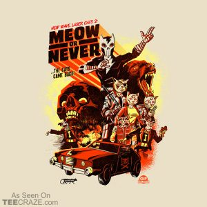 New Wave Laser Cats 2: Meow Or Never T-Shirt