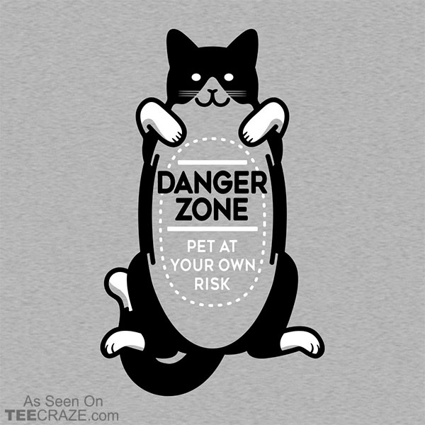 Cat Danger Zone T-Shirt