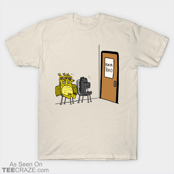 Baby Godzilla And Baby King Ghidorah After Fighting T-Shirt