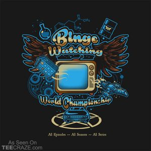 Binge Watching World Champion T-Shirt