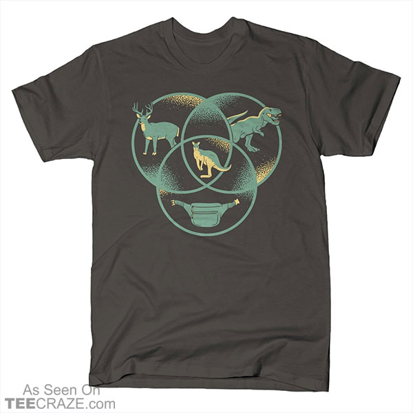 Kangaroo Venn Diagram T-Shirt