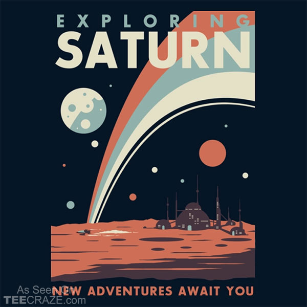 Exploring Saturn T-Shirt