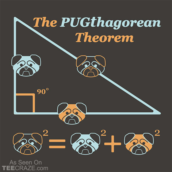 Pugthagorean Theorem T-Shirt