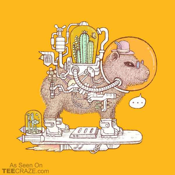 capybara space suits T-Shirt