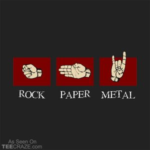 Rock Paper Metal T-Shirt