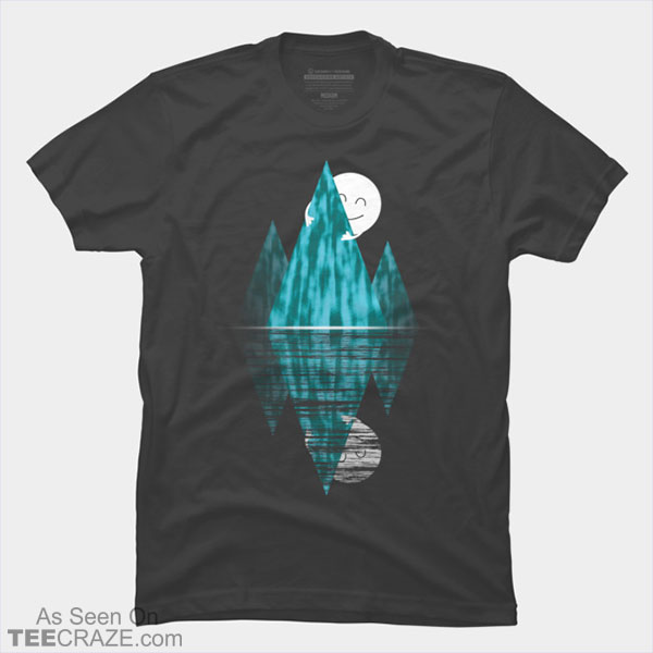 Moon Hugs The Mountain T-Shirt