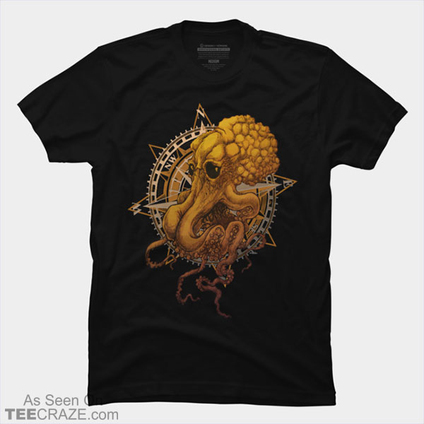 Octopus And Compass T-Shirt