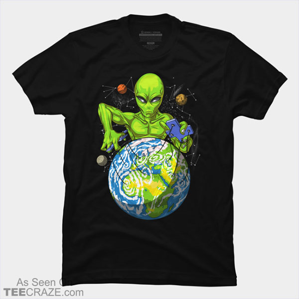 Alien Puppeteer Space Abduction UFO T-Shirt