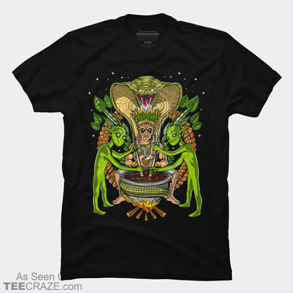 Ayahuasca DMT Aliens Psychedelic Shaman T-Shirt