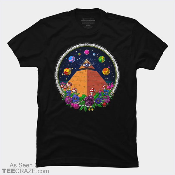Egyptian Pyramid Psychedelic All Seeing Eye T-Shirt