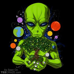 Space Alien God UFO T-Shirt