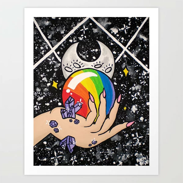 Crystal Ball Art Print