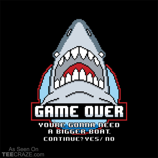 Game Over Shark T-Shirt