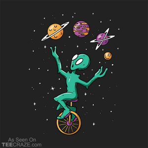 Planet Juggling Alien T-Shirt