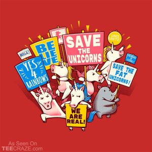 Save The Unicorns! Save The Fat Unicorns! T-Shirt