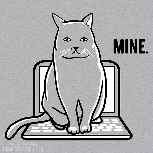 Mine Computer Cat T-Shirt