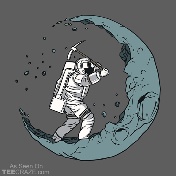 Moon Digging Astronaut T-Shirt