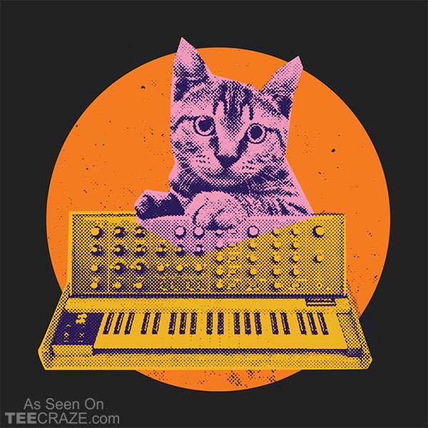 Synthesizer Cat T-Shirt
